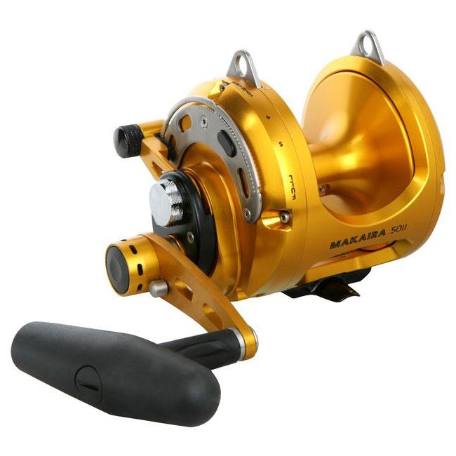 Makaira lever drag reel okuma fishing rods and reels for Shark fishing rod and reel combo