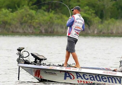 Pro staff jacob wheeler win the bassmaster event this for Fishing pro staff